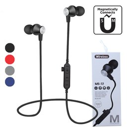 sport mp3 earphone bluetooth Australia - MS T2 Magnetic wireless Bluetooth headphones Sport Earphones Bass Stereo BT 4.2 Bass Stereo Wireless Headset Earbuds With Mic MP3 For iphone