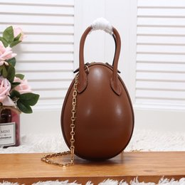ToTe boxes online shopping - EGG New Designer Handbags Shoulder Bags Woman s Chain bag Genuine Leather Lady Messenger Bag Luxury Egg Purse New with box