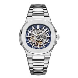 Out digital online shopping - 2019 TOP Mens Automatic Watches Designer Modern Mechanical Hollowing Out Steel Fashion Nautilus Watch Business Casual Wristwatches