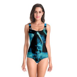 skull piece swimsuit Australia - New Sleeveless girl Sexy Ghost ship skull 3D Beach Style Suit Printed Girl Swimsuit One Piece Swimwear women Cosplay Funny