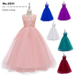 $enCountryForm.capitalKeyWord NZ - Free Shipping Ankle Length Kids Party Dress 2019 New Arrival Peach Flower Girl Dresses For Weddings Children Princess Ball Gowns
