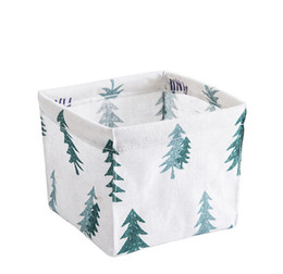 China Storage Bin Closet Toy Box Container Organizer Fabric Hand Box Cloth Basket For cosmetics jeweler remote control sock #008 cheap candy bins suppliers