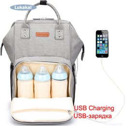 Wholesale 2019 New USB Phone Charging Mummy Baby Bag Backpack For Baby Care WaterProof Diaper Bag Mummy Maternity Nappy Luiertas