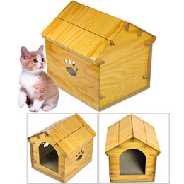 paper house small Australia - Simulated Wood Grain Cat House Corrugated Paper Cat Scratch Board Shelter Pet Supplies