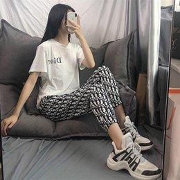 Toptan satış Kadınlara, Erkek Pantolon, gevşek ve rahat Sürüm Ücretsiz Nakliye 2020 Yeni Tasarımcı Yaz Moda Günlük Spor Pantolon