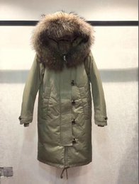 Raccoon Hooded Parka Coats Australia - Europe Fashion brand Thick Down Jacket 100% Real Raccoon Fur Coat Women Down Coat X-Long Hooded Parkas size S -XL B-36
