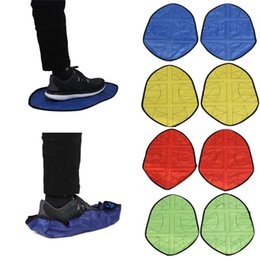 Eco Friendly Shoe Covers Australia - One Pair Hot Reusable Step in Sock Portable Auto-Package Overshoes Waterproof Shoe Covers Sock Shoe Covers