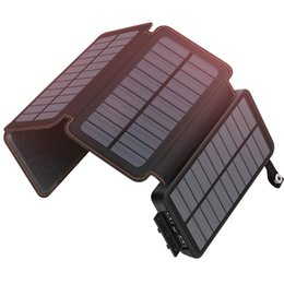 $enCountryForm.capitalKeyWord Australia - Solar Charger 20000mAh Portable Power Bank with 2 USB Output Waterproof Battery Pack Compatible with Most Phones, Tablets and More