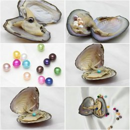 $enCountryForm.capitalKeyWord Australia - MIX COLORS Freshwater Round Pearl with Oyster Shell 6-8mm in Oyster single, Pearls Oysters DIY Jewelry making