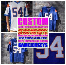 Kids American Football Jerseys NZ - Custom college american football jerseys mens womens youth kids soccer rugby stitched authentic jersey 4xl 5xl 6xl 7xl 8xl Sports Apparel