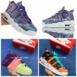 "Discount more shoes - 2019 Air More Uptempo GS ""Purple Iridescent"" Womens Basketball Shoes Wholesale Top Quality Big Pippen 922845-5"