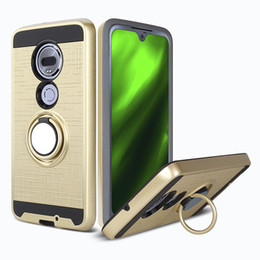 Wholesale Armor Cell Phone Case TPU PC Magnetic Suction Bracket For MOTO G7 play LG Stylo Case Cover Degree Holder