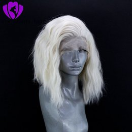 ombre dark green bob wig UK - 13x4 white Lace Front Wig Brazilian 1B Short Bob Lace Front Wigs For Black Women Synthetic Lace Front Wig