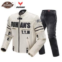 $enCountryForm.capitalKeyWord Australia - DUHAN Motorcycle Jacket Breathable Mesh Jacket Motocross Suit Racing Moto Pants Motorcycle Protective Gear