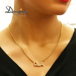 Necklaces Pendants Australia - Duoying Crystal Pendant Necklace For Women Stone Chain Zirconia Necklaces Women Personalized Name Necklace Nlk90 J190620