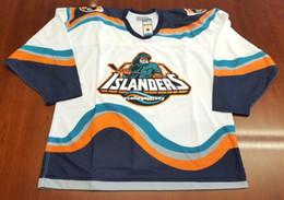 b1061176b Wholesale Custom New York Islanders Vintage CCM Cheap Center Ice Pro Hockey Jersey  Fisherman White Mens Retro Jerseys