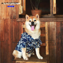 Discount beach spray - Hip Hop Spray Printed Pets Shirts INS Fashion Design Brand Pet T-shirts Summer Holiday Beach Style Teddy Tops Apparel