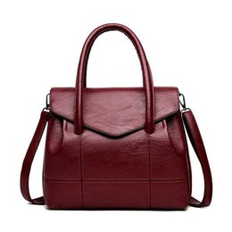 $enCountryForm.capitalKeyWord Australia - Women Travel Pu Leather Handbag Casual Large Female Shoulder Bag Lady Handle Tote Crossbody Famous Holiday Bolsa Ss7059