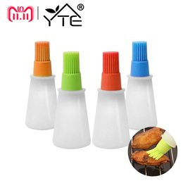 cooking pan wholesalers Australia - Yte Grill Bottle Heat Resisting Silicone Pastry Oil Brushes Bbq Utensil Basting Brush C19041501
