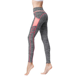 yoga workout pants UK - Womens Sport Yoga Pants Side Pockets High Waisted Workout Leggings Fitness Gym Running Dance Trousers Elastic Tights Skinny Pants Sweatpants