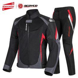 $enCountryForm.capitalKeyWord Australia - SCOYCO Motorcycle Jacket+Moto Pants Summer Breathable Motocross Jacket Reflective Chaqueta Moto Jacket Riding Clothing Armor