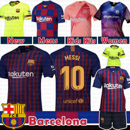 530de199e4a 10 Messi Barcelona Soccer Jersey 2019 Men Women Kids kits 8 Iniesta 9  Suárez 26 MALCOM 11 Dembele 14 7 Coutinho Football uniforms shirts