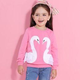$enCountryForm.capitalKeyWord NZ - Princess Girls T-Shirt Autumn Brand Baby Girls Full T-Shirt Cute Cartoon Bird Lace Shirts Children Clothing Blouse