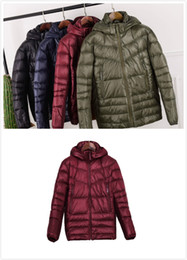 packable jacket Australia - Factory Price Mens New and Good Quality Packable Fashion Down Coat Down Jacket Duck Down Parka Winter coat red black Arm Green Plus size