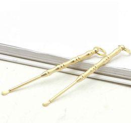 $enCountryForm.capitalKeyWord UK - Brass copper Stainless Steel Material Spoon Key Ring Shovel Wax Tools Scoop Keychain Hookah Shisha Earpick 5 Styles Smoking Pipe