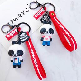 $enCountryForm.capitalKeyWord Australia - Cute Cartoon Black Beer Keychain Animal Panda Keychain House Car Key Chains Souvenirs Gift Bag Pendant