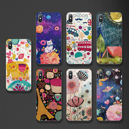 Cases For Iphone 5s 3d Australia - 3D Cartoon Relief Pattern Case for iPhone XS XR Xs Max Soft Silicone Phone Cases for iPhone 6 6S 8 7 Plus 5 5s SE Cover