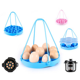 Eggs Steamer Australia - Good quality Safety Silicone Gel multi-function steamed egg steamer Detachable home kitchen table mats pads egg cooker poachers mould by DHL