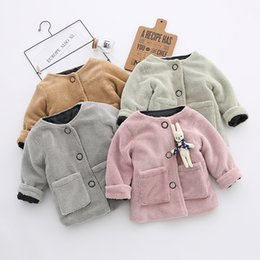 children rabbit fur coat 2019 - New Winter Boys Coat Warm Plush Kids Jackets Cute Rabbit Fur Outerwear Children Clothing Baby Girl Clothes discount chil