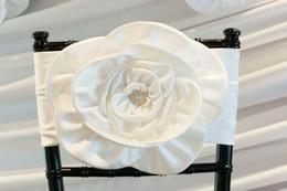$enCountryForm.capitalKeyWord Australia - 2019 Crystals 3D Flowers Made Wedding Chair Covers Cheap Elegant Chair Sashes VintageWedding Decorations Wedding Accessories C02