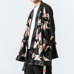 Männliche Japan Harajuku Lose Beiläufige Art Und Weise Langes Hemd Windjacke Männer Kimono Cardigan Trenchcoat