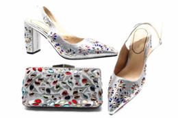 a70d946f58209 Silver matching ShoeS bag online shopping - Hot sale silver women high heel shoes  match handbag
