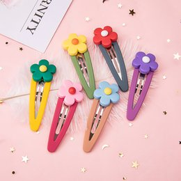 Sweet candy girl online shopping - M MISM PC Resin Flower Hair Clips Candy Colors Side BB Clips For Women Girls Hairpins Sweet Hair Band Accessories Headwear