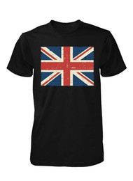 3da69d6e377eda BNWT GREAT BRITISH UNION JACK FLAG ENGLAND DISTRESSED PRINT ADULT T SHIRT  S-XXL