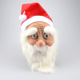 Chinese  Funny Super Soft The Santa Claus Mask Wig Beard Costume Christmas Party Holiday Supply Nl121 Q190524 manufacturers