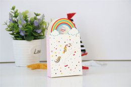 baby shower favor craft wholesale UK - 100pcs Unicorn Rainbow Paper candy Box Wedding Decoration Delicate Baby Shower Candy Boxes Chocolate Gift Treat Boxes Wedding Party Favor