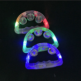 rave props NZ - Colorful Led Flashing Baby Rattle Hand Led Light Up Led Tambourine Luminous Toys Rave Bar Ktv Party Prop Wedding Party Decora