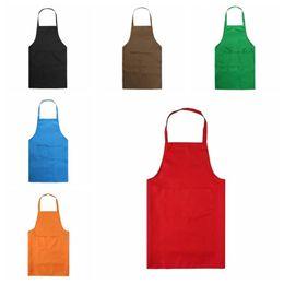$enCountryForm.capitalKeyWord Australia - Household Kitchen Apron Fashion Chef Apron With Pockets Men Lady Woman Aprons For BBQ Baking Cooking Gardening Working