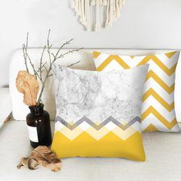 $enCountryForm.capitalKeyWord Australia - Urijk Yellow Geometric Printed Throw Pillow Case Sofa Car Waist Cushion Cover Office Kussenhoes Housse de Coussin Pillowcase