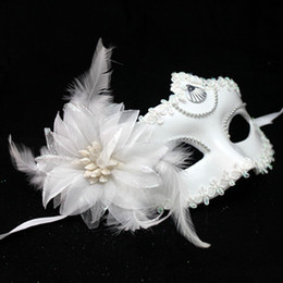 Chinese  Retro Half Face Feather Flower Dance Mask For Women Girls Ball Masquerade Costume Make Up Evening Princess Mas S796 manufacturers