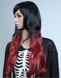 $enCountryForm.capitalKeyWord Australia - Fashion Long Lolita Hair Cosplay Party Wig Black Mixed Red Full Synthetic Wig heat resistant fibers Hair wigs Free Shipping