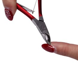 cuticle remover clippers UK - 1PC Nail Cuticle Pusher Tweezer Cutter Nipper Clipper Dead Skin Remover Manicure Art Grooming Tool Beauty Nail Pliers