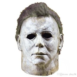 latex celebrity face mask NZ - Michael Myers Mask Halloween Horror Movie Cosplay Adult Latex Full Face Helmet Halloween Party Scary Props