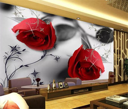 $enCountryForm.capitalKeyWord Australia - 3d Bedroom Wallpaper Modern Black and White Rose Pattern TV Background Wall Decoration Romantic Wall paper