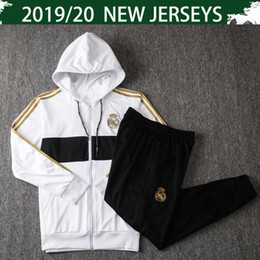$enCountryForm.capitalKeyWord Australia - 2020 Real Madrid White Hoodies HAZARD Soccer Jacket With Hats 19 20 Real Madrid Black Hoodie DE LIGT Hat-shirt Training Uniforms With Pants