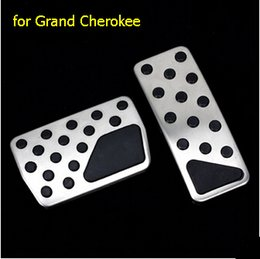 stainless accelerator pedal Australia - Car styling 2pcs set stainless steel Accelerator Gas Brake pedal NON-slip cover auto accessories case for Grand Cherokee